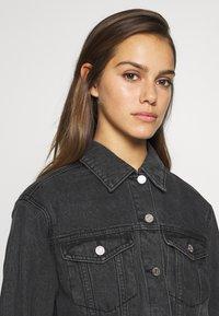 Missguided Petite - JACKET - Denim jacket - black - 3