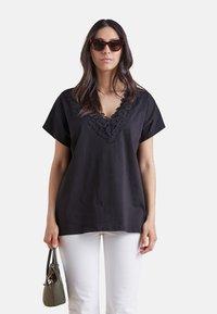 Elena Mirò - Print T-shirt - nero - 0