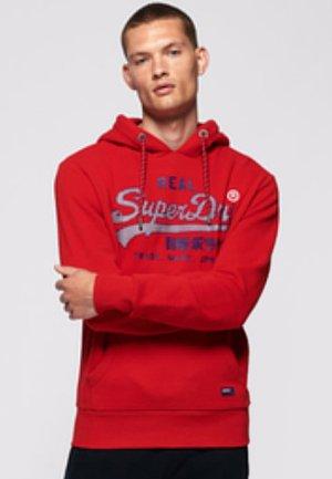 VINTAGE LOGO RACER HOOD - Bluza z kapturem - rouge red