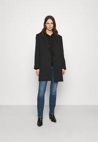 Moss Copenhagen - LOGO HOOD  - Sweatshirt - black/black - 1