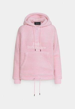ORIGINAL PILE HALF ZIP - Hoodie - cold blush