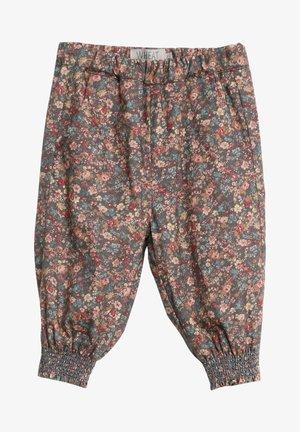SARA - Trousers - petroleum flowers