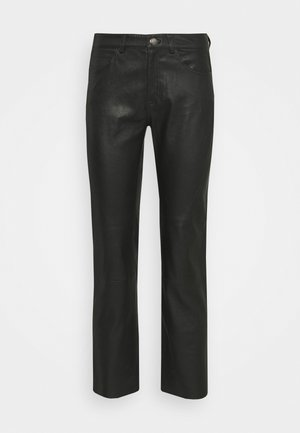 ALANA TROUSERS - Leather trousers - black