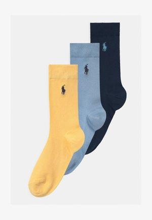 SUPERST CREW 3 PACK - Ponožky - navy