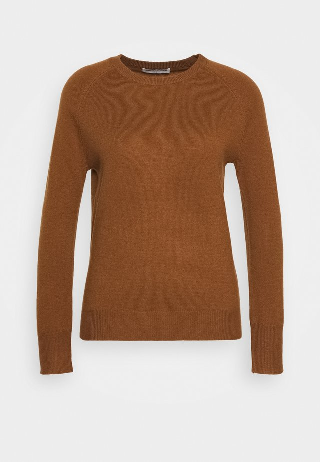 CLASSIC CREW NECK  - Pullover - deep camel