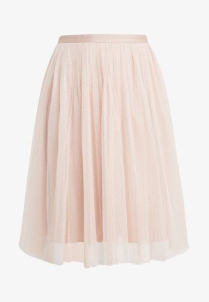DOTTED MIDI SKIRT - A-Linien-Rock - powder pink