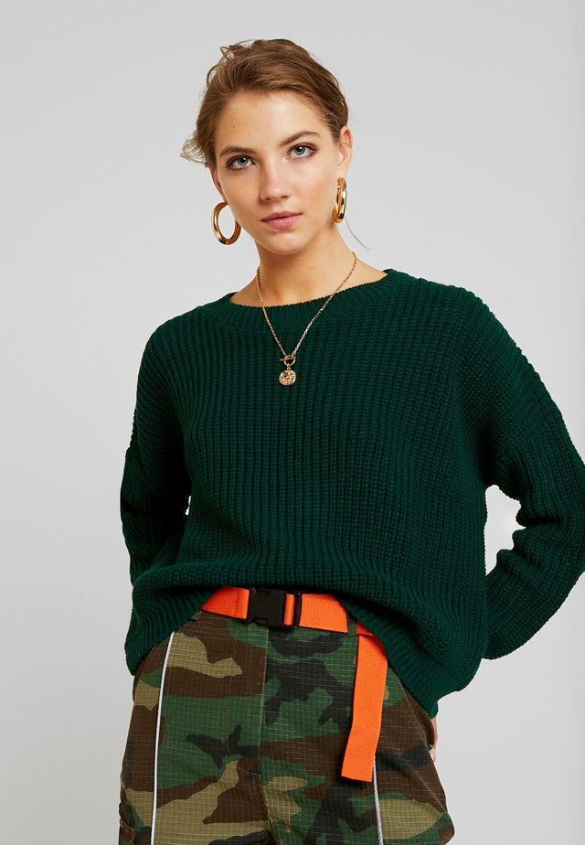 Pullover - bottle green