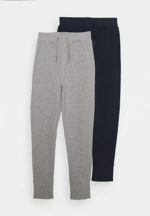 NKMVASIMO PANT 2 PACK - Trainingsbroek - grey melange/dark sapphir