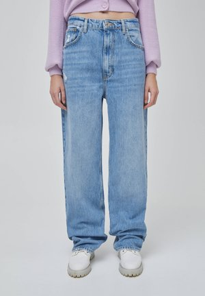 Jeans Straight Leg - mottled blue