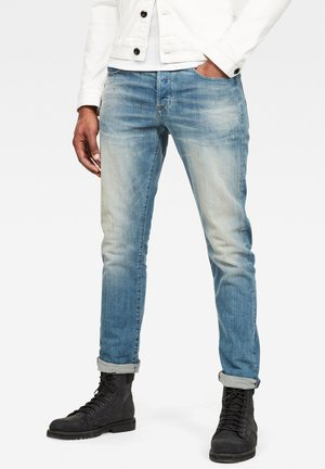 KILCOT STRAIGHT TAPERED - Slim fit jeans - antic faded royal blue