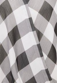 DKNY - WRAP TOP - Blouse - black/white - 2