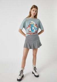 PULL&BEAR - Mini skirt - mottled black - 1