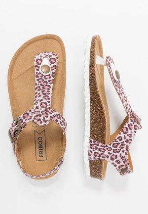 Sandaler m/ tåsplit - pink