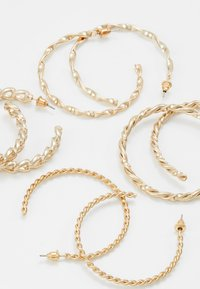 Missguided - CHAIN HOOP 4 PACK - Örhänge - gold-coloured - 4