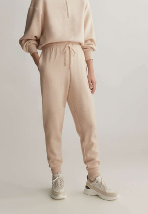 Tracksuit bottoms - mottled beige