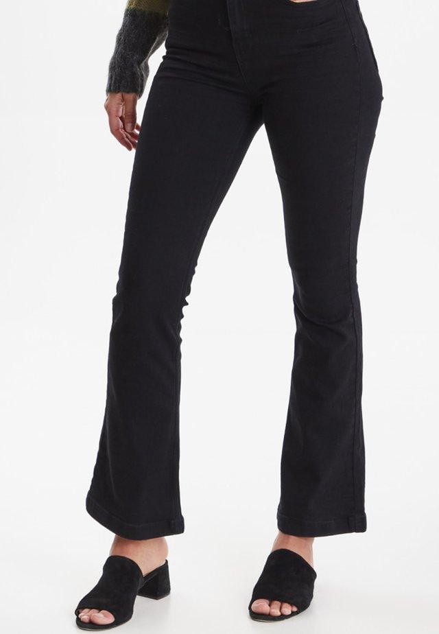 LIVA - Jeans bootcut - black denim