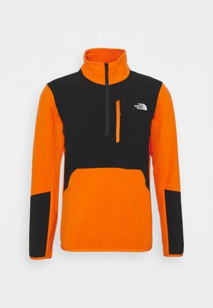 GLACIER PRO 1/4 ZIP  - Fleecepaita - flame/black