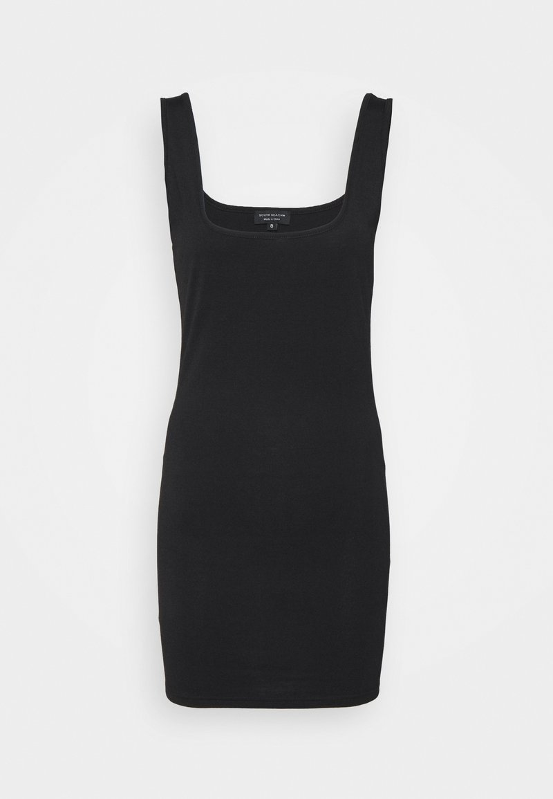 South Beach Petite - SUSTAINABLE SQUARE NECK MINI DRESS - Jersey dress - black