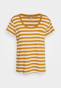 Print T-shirt - white/yellow