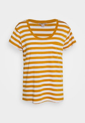 Print T-shirt - white/yellow