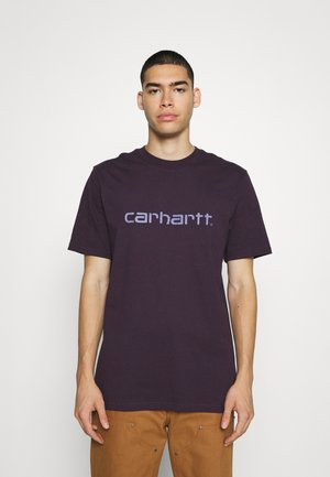 SCRIPT - Print T-shirt - dark iris/cold viola