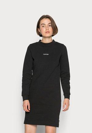 MINI CALVIN KLEIN SWEATDRESS - Jersey dress - black