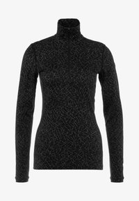 HALF ZIP SKY PATHS - Sports shirt - black