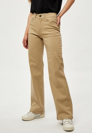 Široké džíny - pale kahki