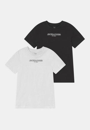 JJBANK TEE CREW NECK 2 PACK - T-shirt med print - black/white