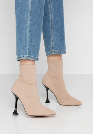 PAYTON - High heeled ankle boots - nude