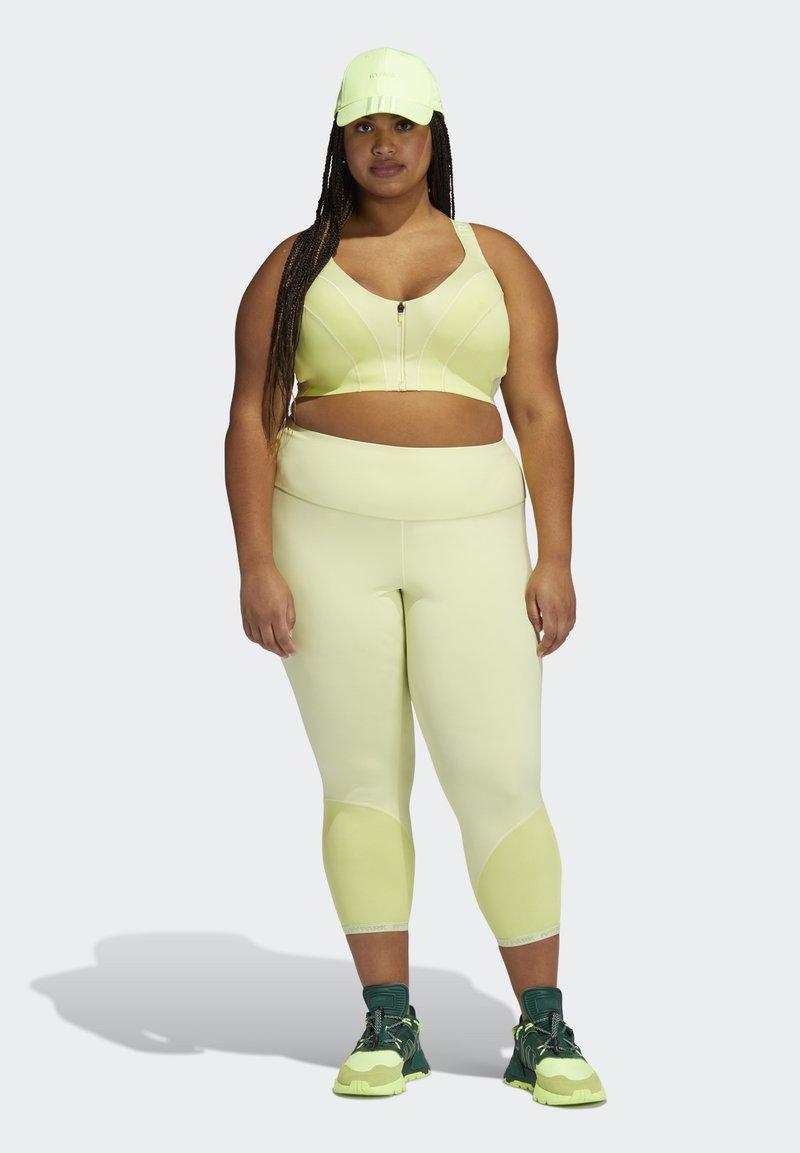 adidas Originals Ivy Park Zip Bra Medium Support - Top - yellow/gelb Uu9VZk
