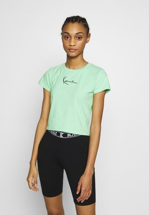 SIGNATURE TEE - Print T-shirt - green/black