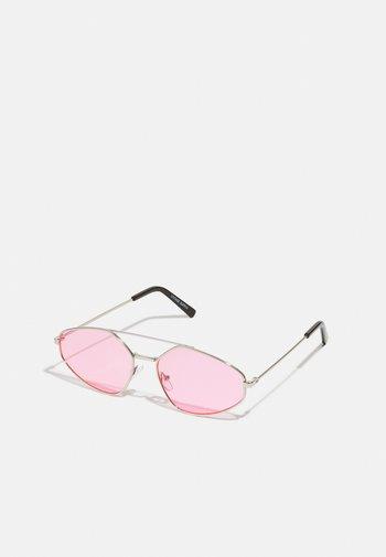 UNISEX - Sunglasses - ilver-coloured/pink
