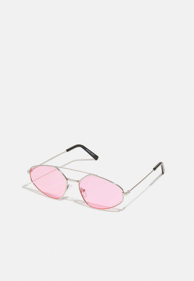 UNISEX - Lunettes de soleil - ilver-coloured/pink