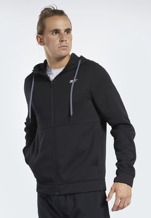 WORKOUT READY HOODIE - Huvtröja med dragkedja - black