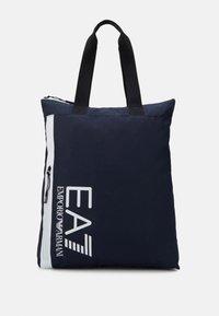 UNISEX - Tote bag - night blue/white