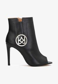 Kazar - MEGAN - Peeptoe heels - black - 1