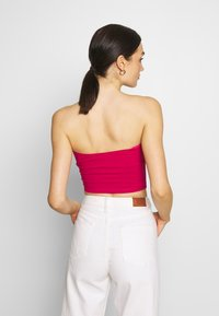 Glamorous - BANDEAU CROP TUBE 2 PACK - Topper - white/cerise pink - 3
