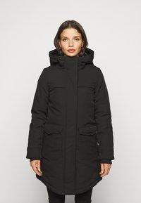 ONLY Petite - ONLMAASTRICHT JACKET  - Krótki płaszcz - black - 0