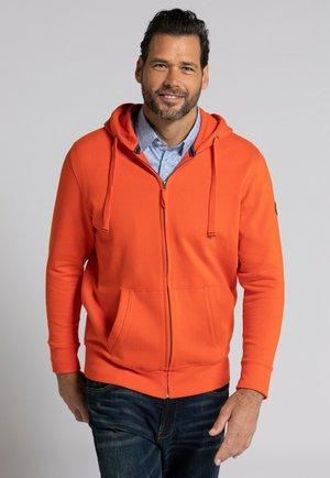 Zip-up hoodie - rouge orangé