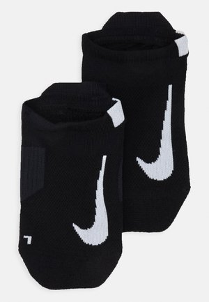UNISEX 2 PACK - Trainer socks - black/white