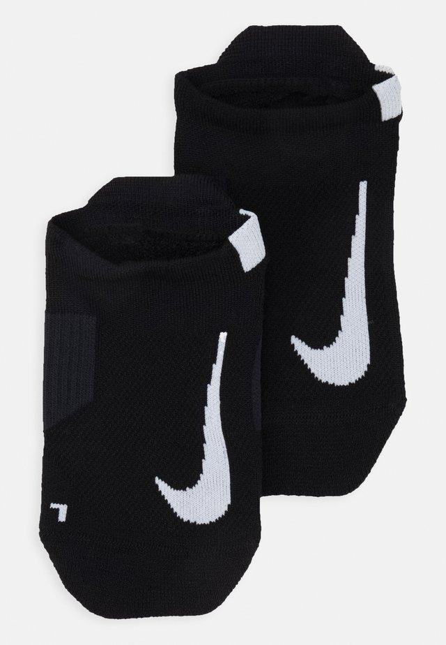 UNISEX 2 PACK - Trainer socks - black/white