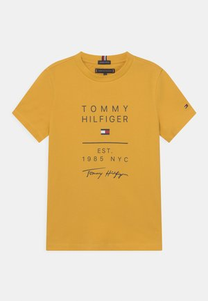GRAPHIC - Print T-shirt - midway yellow