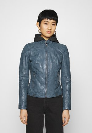 CACEY - Leather jacket - denim blue