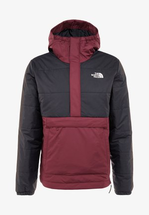 INSULATED FANORAK - Outdoorjacka - black/deep garnet red