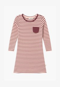 Sanetta - PURE KIDS STRIPED - Noční košile - red wine - 0