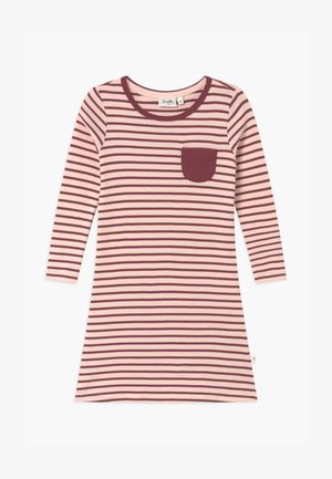 PURE KIDS STRIPED - Nightie - red wine