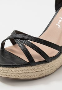 New Look - PEDGER - Sandalias de tacón - black - 2