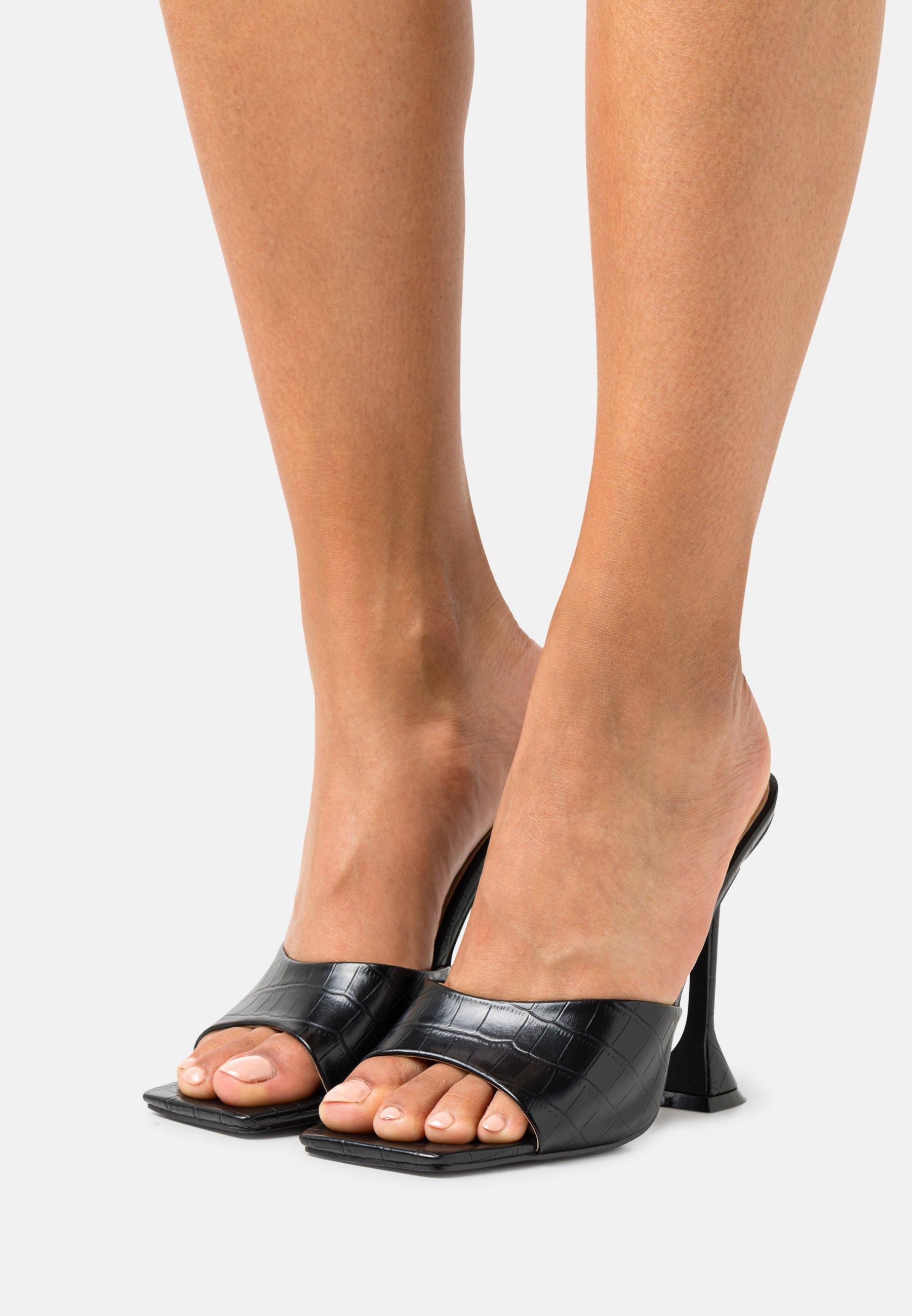 Women Heeled mules - black