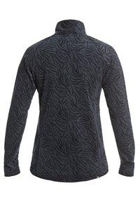 Roxy - CASCADE - Fleece jumper - true black zebra print - 1